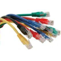 UTP patch kábel; cat6; piros; 0,25 m