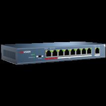Hikvision DS-3E0109P-E (B) 9 portos PoE switch; 8 PoE + 1 uplink port; nem menedzselhető