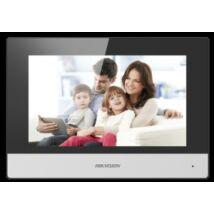 """Hikvision DS-KH6320-WTE1 IP video-kaputelefon beltéri egység; 7"""" LCD kijelző; 1024x600 felbontás; WiFi"""