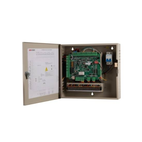 Hikvision DS-K2602 Ajtóvezérlő 2 ajtóhoz;két irány;4 Wiegand,4 RS485 olvasó;4/4 alarm/esemény be-;2 alarm relé kimenet