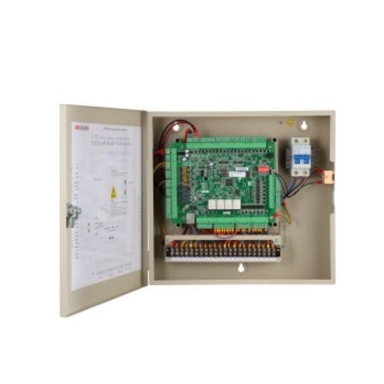 Hikvision DS-K2604 Ajtóvezérlő 4 ajtóhoz; két irány; 4 Wiegand és 8 RS485 olvasó; 4/8 alarm/esemény be- és 4 alarm relé