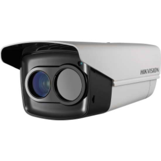 Hikvision DS-2TD2235D-25 IP hőkamera és 2 MP WDR EXIR Darkfighter színes kamera kültéri házban