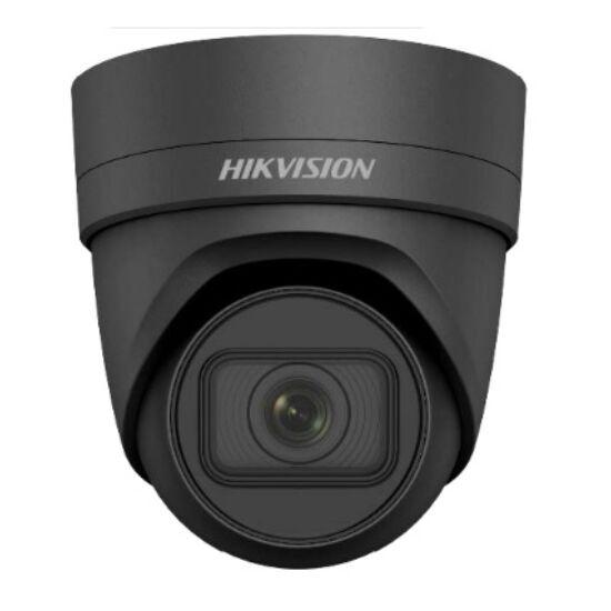 Hikvision DS-2CD2H85FWD-IZS-B (2.8-12mm) 8 MP WDR motoros zoom EXIR IP dómkamera; hang ki- és bemenet; fekete