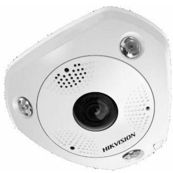 Hikvision DS-2CD6365G0E-IVS(1.27mm) (B) 6 MP 360° vandálbiztos IR Smart IP panorámakamera; hang/riasztás ki-/bemenet; mikrofon/hangszóró
