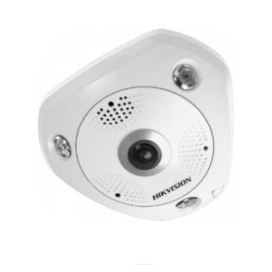 Hikvision DS-2CD6365G0E-IS(1.27mm) (B) 6 MP 360° IR Smart IP panorámakamera; hang és riasztás ki- és bemenet; beépített mikrofon/hangszóró