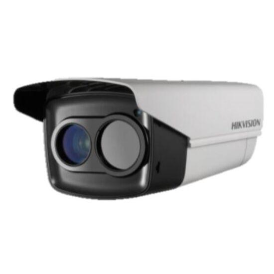 Hikvision DS-2TD2235D-50 IP hőkamera és 2 MP WDR EXIR Darkfighter színes kamera kültéri házban