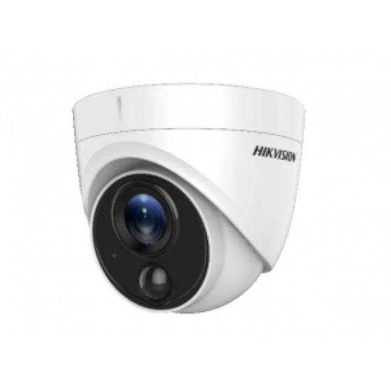 Hikvision DS-2CE71H0T-PIRLO 5 MP THD PIR fix dómkamera; OSD menüvel; riasztási kimenet
