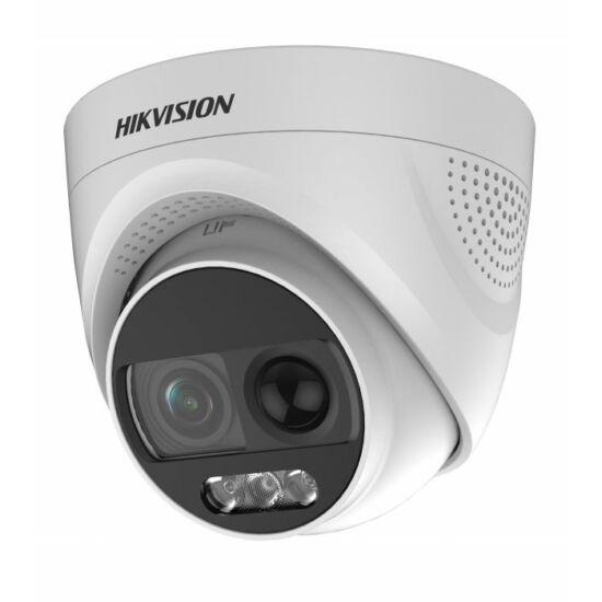 Hikvision DS-2CE72DFT-PIRXOF 2 MP ColorVu THD PIR WDR fix dómkamera; OSD menüvel; sziréna; riasztás kimenet