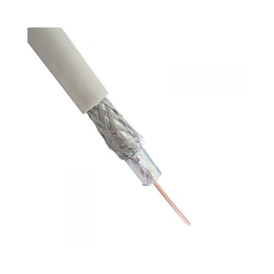 Koax kábel, RG6, 75ohm, fehér