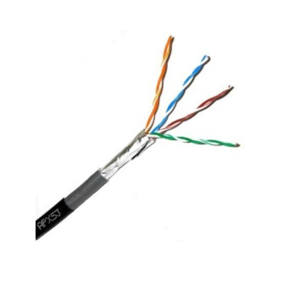 FTP bel-/kültéri kábel; cat5e; fekete; 500 m/dob
