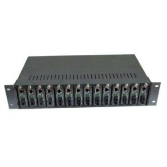 Konverter rack; 14 slot; redundáns tápegységgel FIB-MC-R14