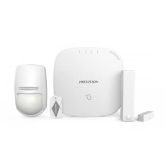 Hikvision DS-PWA32-NT (868MHz) AXHub készlet; tartalma: DS-PWA32-HR, DS-PD2-P10P-W, DS-PD1-MC-WWS és 5 db keytag