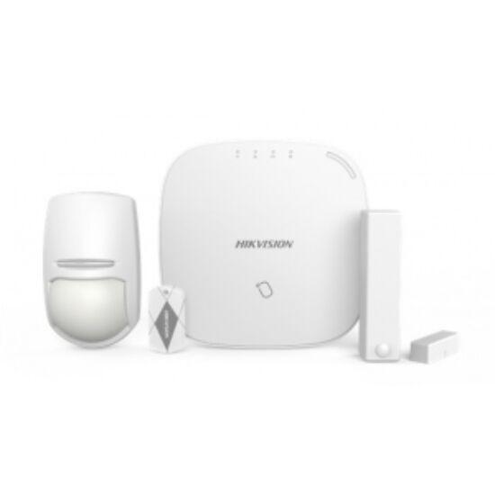 Hikvision DS-PWA32-NST (868MHz) AXHub készlet; tartalma: DS-PWA32-HSR, DS-PD2-P10P-W, DS-PD1-MC-WWS és 5 db keytag
