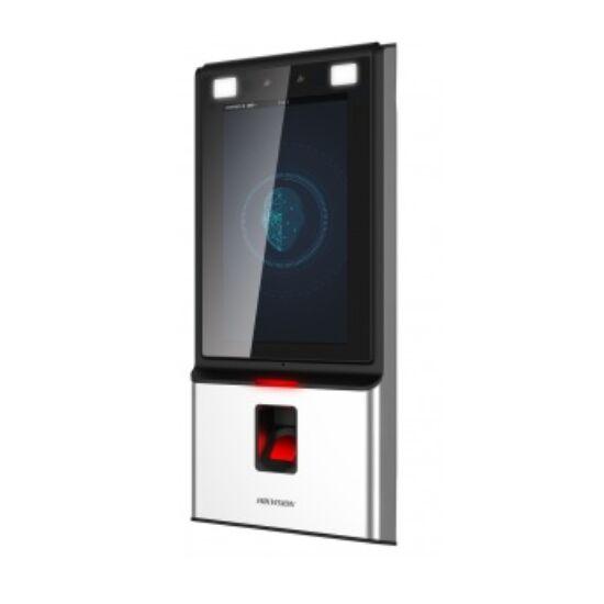 Hikvision DS-K1T604MF Arcfelismerő beléptető vezérlő terminál; Mifare és ujjnyomat hitelesítés; RS485 és Wiegand kimenet