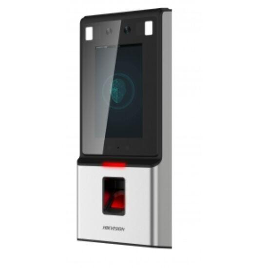 Hikvision DS-K1T606MF Arcfelismerő beléptető vezérlő terminál; Mifare és ujjnyomat hitelesítés; RS485 és Wiegand kimenet
