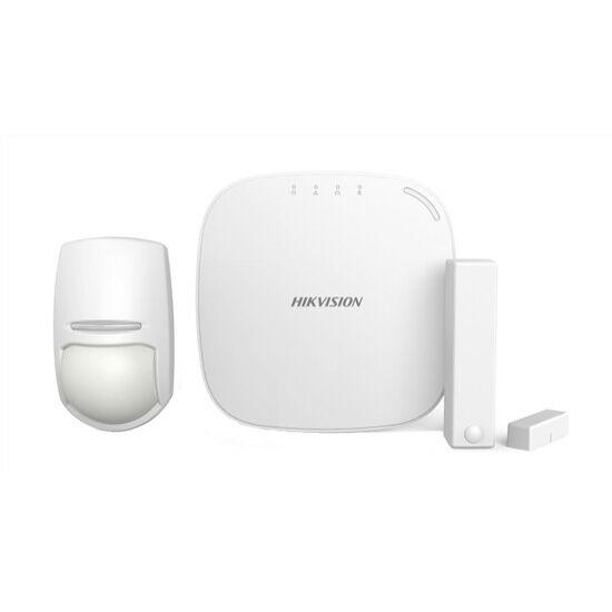 Hikvision DS-PWA32-NG (868MHz) AXHub készlet tartalma: DS-PWA32-HG, DS-PD2-P10P-W és DS-PD1-MC-WWS