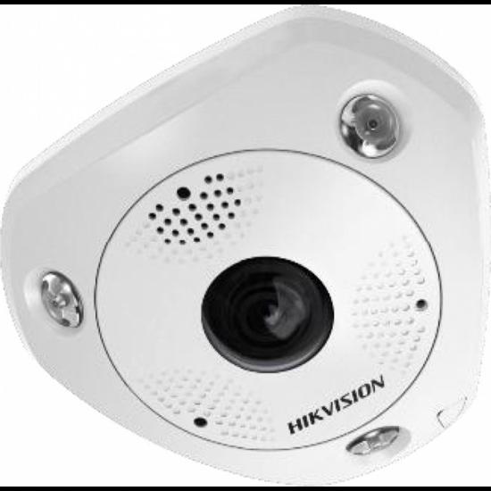HIKVISION DS-2CD6365G0-IVS 6 MP 360° vandálbiztos IR Smart IP panorámakamera; hang/riasztás be-/kimenet; mikrofon/hangszóró