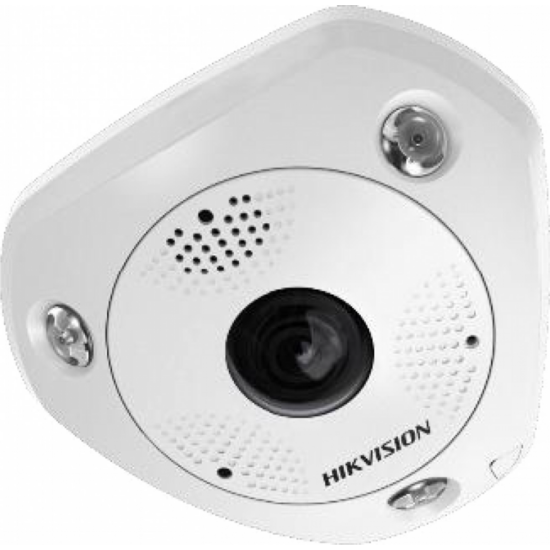HIKVISION DS-2CD63C5G0-IVS 12 MP 360° vandálb. IR Smart IP panorámakamera; hang/riasztás be-/kimenet; mik./hangsz.; ImmerVision