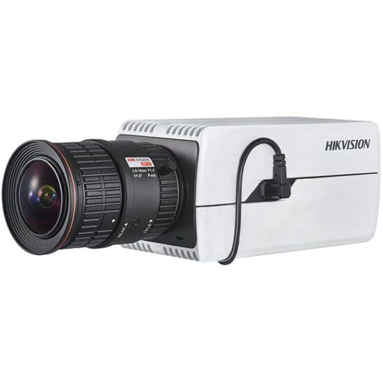 HIKVISION DS-2CD7026G0-P-AP 2 MP DeepinView rendszámolvasó IP WDR DarkFighter boxkamera; hang be- és kimenet; P-írisz