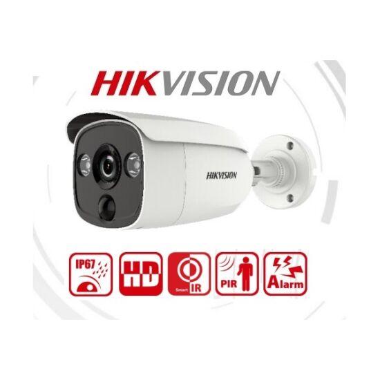 Hikvision Analóg csőkamera - DS-2CE12D0T-PIRL (2MP,  2,8mm, kültéri, IR20m, fehér led 20m, PIR11m, ICR, IP67, DNR)