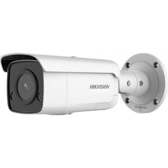 HIKVISION DS-2CD2T66G2-ISU/SL 6 MP AcuSense WDR fix EXIR IP csőkamera; mikrofon; fény- és hangriasztás; riasztás I/O