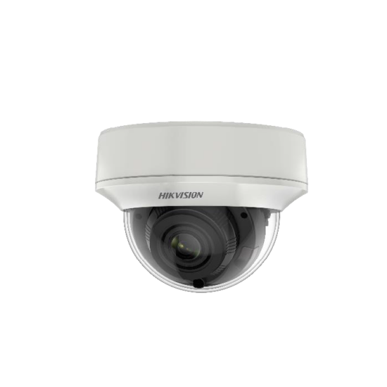 HIKVISION DS-2CE56H8T-AITZF 5 MP THD WDR motoros zoom EXIR dómkamera; OSD menüvel; TVI/AHD/CVI/CVBS kimenet