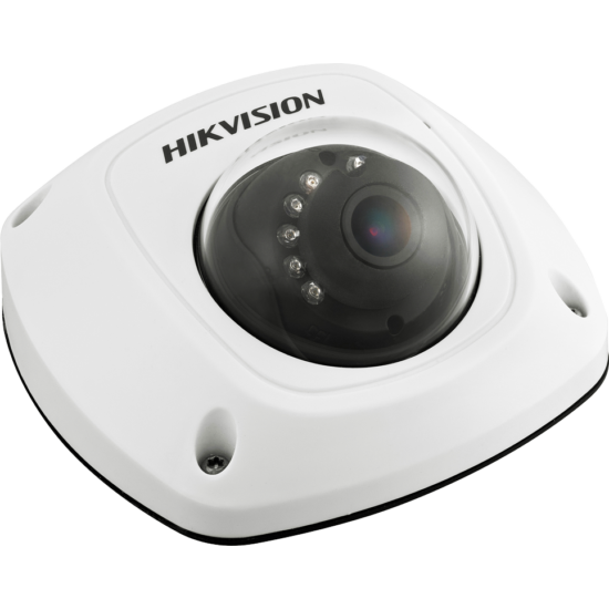HIKVISION DS-2CD6520D-IO 2 MP fix IR IP mini dómkamera mobil alkalmazásra; RJ45 csatlakozóval