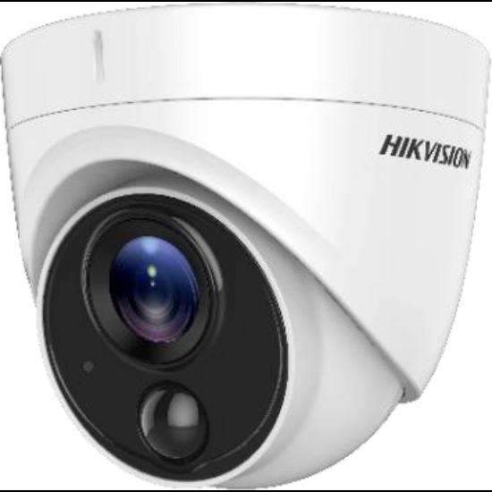 Hikvision DS-2CE71H0T-PIRLPO 5 MP THD fix dómkamera; OSD menüvel; PIR mozgásérzékelővel; riasztás kimenet