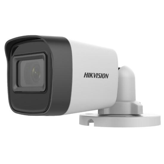 Hikvision DS-2CE16H0T-ITFS 5 MP THD fix EXIR csőkamera; OSD menüvel; TVI/AHD/CVI/CVBS kimenet; koax audio