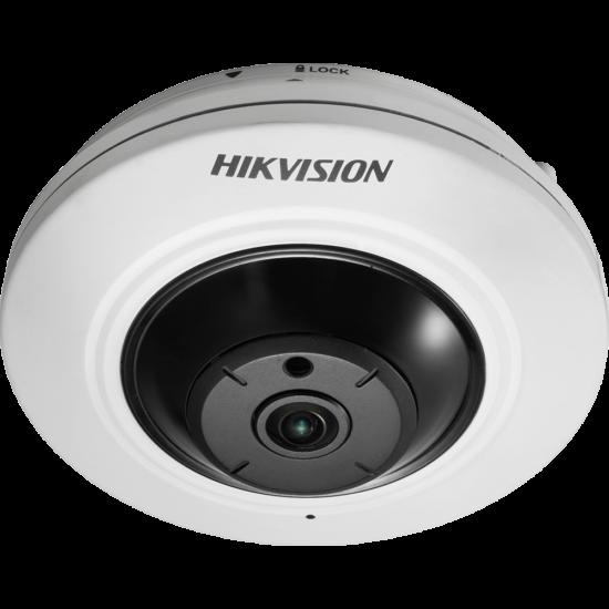 HIKVISION DS-2CD2955FWD-IS 5 MP WDR mini IR IP panorámakamera 180° látószöggel; hang be- és kimenet