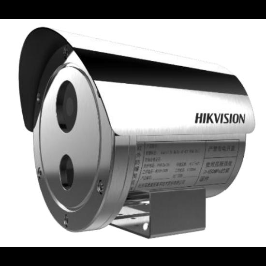 Hikvision DS-2XE6242F-IS /316L 4 MP WDR robbanásbiztos EXIR fix IP csőkamera; hang be- és kimenet; korrózióálló kivitel