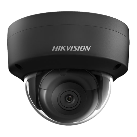 HIKVISION DS-2CD2123G0-IS-B 2 MP WDR fix EXIR IP dómkamera; hang be- és kimenet; fekete