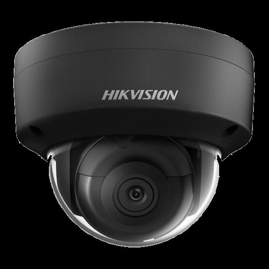 HIKVISION DS-2CD2163G0-IS-B 6 MP WDR fix EXIR IP dómkamera; hang be- és kimenet; fekete