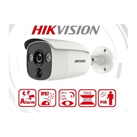 Hikvision Analóg csőkamera - DS-2CE12D8T-PIRL (2MP,  3,6mm, kültéri, IR30m, fehér led 20m, PIR11m, ICR, IP67, WDR, 3DNR)