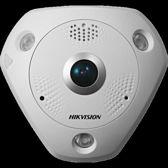 Hikvision DS-2CD63C2F-IVS 12 MP 360° vandálbiztos IR Smart IP panorámakamera; hang be- és kimenet
