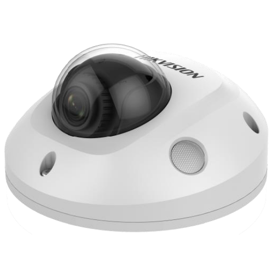 Hikvision DS-2CD2543G0-IS 4 MP WDR fix EXIR IP mini dómkamera hangkimenet és mikrofon