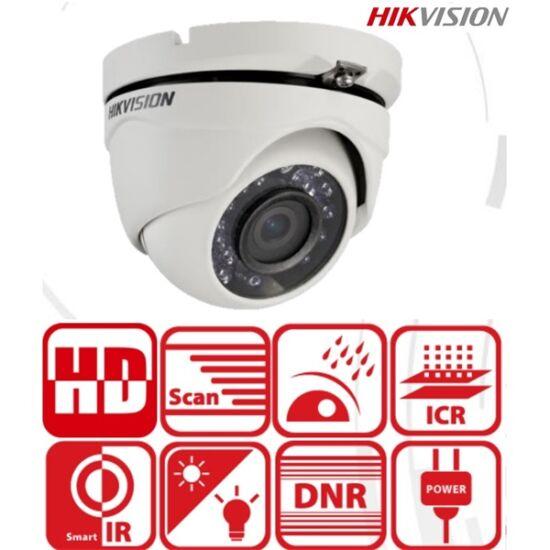 Hikvision DS-2CE56D0T-IRMF 2 MP THD fix IR dómkamera, TVI/AHD/CVI/CVBS kimenet (6mm)