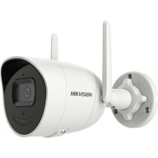 HIKVISION DS-2CV2046G0-IDW 4 MP WiFi fix EXIR IP csőkamera; beépített mikrofon és hangszóró; villogó fény/hangriasztás