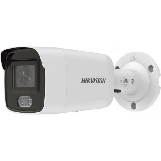 HIKVISION DS-2CD2027G2-LU 2 MP WDR fix ColorVu AcuSense IP csőkamera; láthatófény; beépített mikrofon