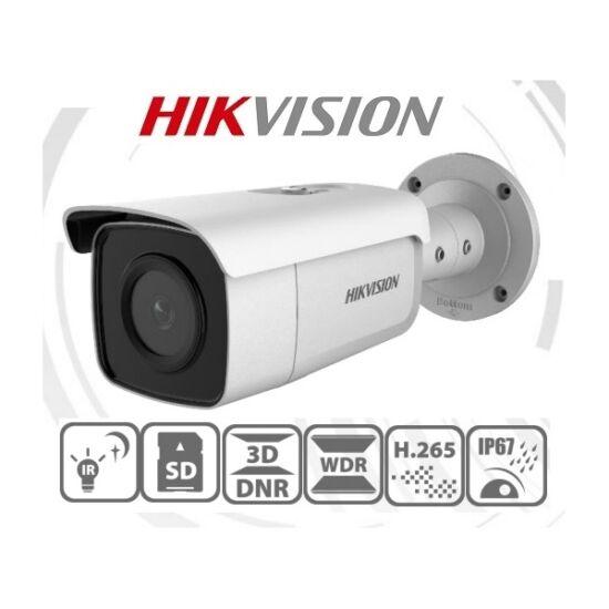 Hikvision IP csőkamera - DS-2CD2T46G1-2I (4MP, 2,8mm, kültéri, H265+, IP67, IR50m, ICR, WDR, SD, PoE, Darkfighter)