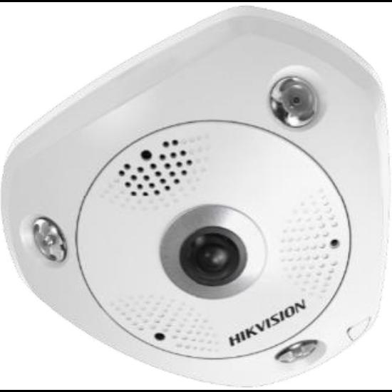 Hikvision DS-2CD6365G0-IS 6 MP 360° IR Smart IP panorámakamera hang és riasztás be- és kimenet beépített