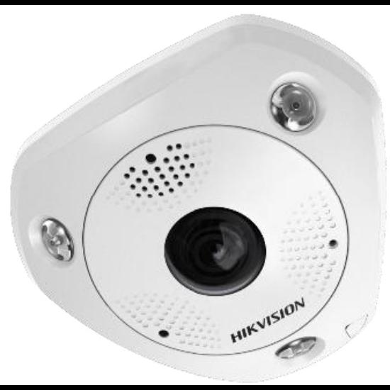 Hikvision DS-2CD63C5G0-IVS 12 MP 360° vandálbiztos IR Smart IP panorámakamera hang/riasztás be-/kimenet