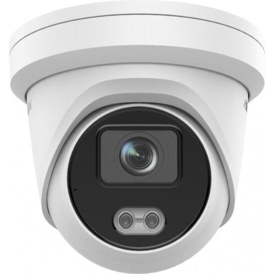 HIKVISION DS-2CD2347G2-LU 4 MP WDR fix ColorVu AcuSense IP dómkamera; láthatófény; beépített mikrofon