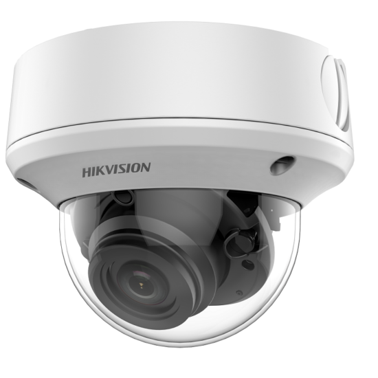 HIKVISION DS-2CE5AH0T-VPIT3ZF 5 MP THD vandálbiztos motoros zoom EXIR dómkamera; OSD menüvel; TVI/AHD/CVI/CVBS kimenet