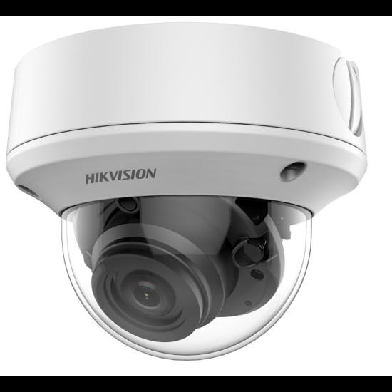HIKVISION DS-2CE5AH0T-AVPIT3ZF 5 MP THD vandálbiztos motoros zoom EXIR dómkamera; OSD menüvel; TVI/AHD/CVI/CVBS kimenet