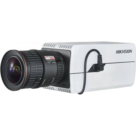 HIKVISION DS-2CD7085G0 8 MP DeepinView IP WDR DarkFighter boxkamera; hang be- és kimenet
