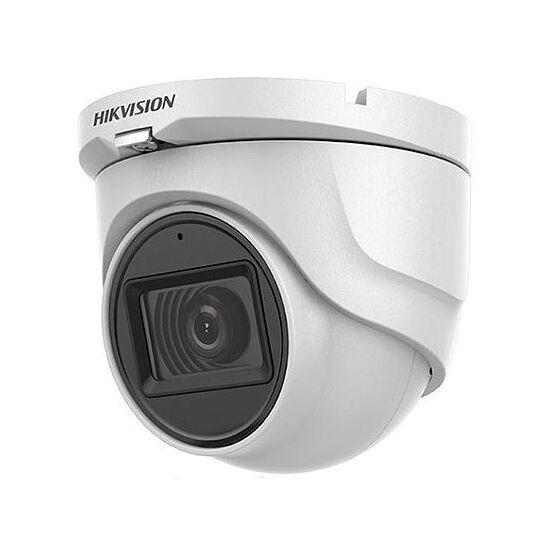 HIKVISION DS-2CE76H0T-ITMFS 5 MP THD fix EXIR dómkamera; OSD menüvel; TVI/AHD/CVI/CVBS kimenet; koax audio